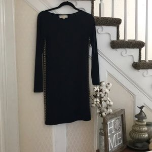 Michael Kors XS navy dress with gold detail